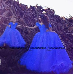Wholesale Cinderella Movie Family Dress Alikes For Mother And Daughter Baby Blue Luxury Sparkly Beaded Ball Gown Dresses for Occasion Party Wear