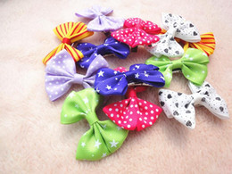 100 pieces wholesale cheap pet dog multicolor butterfly style Hair Bows hair ties for pet dogs clips pet grooming products