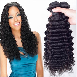 8A Quality Brazilian Deep Weave Unprocessed Human Hair Extension 8-30inch Natural Black Color Thick Full Dyeable 4pcs lot Free Shipping DHL