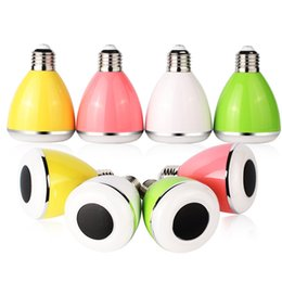 Wholesale LED Bulb Speaker ABS Aluminum Material m mobile phone App with Bluetooth speaker colors can be choose