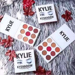 Wholesale IN stock NEW Kylie Jenners Bronze Burgundy Kyshadow palette Holiday Edition The Holiday Palette Eyeshadow DHL free ship Christmas Gift