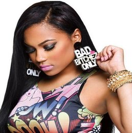 Hip Hop Punk Fashion Big Long Drop Heart Letter Charm Earrings For Women Club Jewelry Accessories