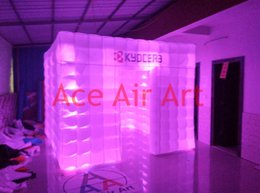 Wholesale Free Logo Excellent Beautiful Lighting inflatable Square Tent For Event with Brightest lights System and Remote Control
