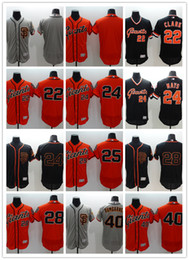 Wholesale 2016 Flexbase MLB Stitched San Francisco Giants Posey Clark Mays Bumgarne Blank Black Orange Gray Baseball Jersey Mix Order