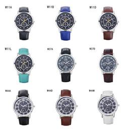 Descuento relojes de pulsera piezas Moda para hombre relojes ocasionales de los deportes GTWH8 reloj reserva de marcha, relojes de pulsera de cuarzo correa de relojes analógico-digital 6 pedazos una porción del color de la mezcla