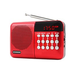 campus broadcast radio included full band FM radio frequency covered mp3 music player speaker for elder people gifts