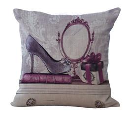 Classic round mirror heels woman's gift pillow massager decorative pillows fiber emoji enjoyment fiber flax gift home decor