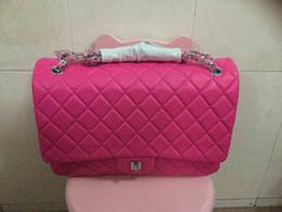 2016 lady's genuine lambskin flap bag,30cm,jumbo size,586-00,high quality lambsikin,good price