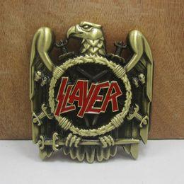 Wholesale BuckleHome slayer belt buckle music belt buckle FP cm loop wideth antique brass finish drop ship available