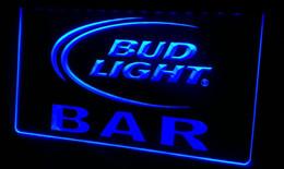 LS455-b BAR Bud Beer Neon Light Sign