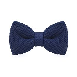 Men's Blue Bow Tie Tuxedo Adjustable Party Casual Stylish Fashion Bow Tie Gift Box Men's Fashion Accessories F-314
