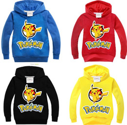 Wholesale Free DHL Styles Poke Go Hoodies boys Hoodies Sweatshirts Spring Autumn Clothes
