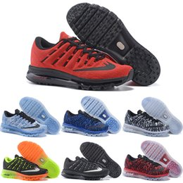 Wholesale 2016 New Running Shoes Men Air High Quality Authentic Sneakers Cheap Green Walking Red Black Sports Shoes Size