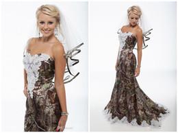 2016 New Camouflage Mermaid Wedding Dresses lace trailing Wedding Dress sexy strapless beach formal Wedding Dresses sent veil plus size