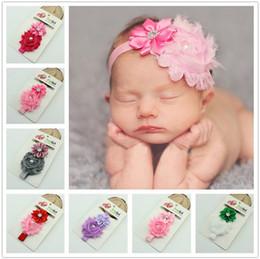 Fashion Baby Hair Accessories cute Flower with drill elastic headbands Girls Hair Band Kids Headband Babies Toddler Head Band