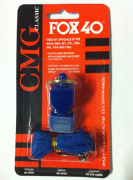 Wholesale Fox Classic Official Whistle with Break Away Lanyard FOX football whistle soccer whistle Basketball Whistle Referee FOX whistle