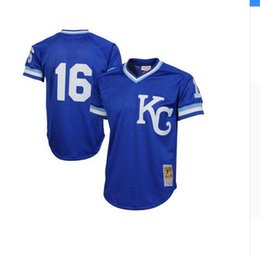 Wholesale Men s Bo Jackson Royal Authentic Cooperstown Collection Batting Mesh Practice Jersey