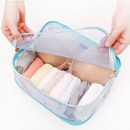 Wholesale High Quality Cosmetic Bags Style Storage Travel Portable Underwear Cases Bra Organizer Hot Sale New