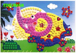Wholesale 4pcs DIY Mosaic Art Stickers for Kids Early Childhood Education Toys for years