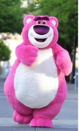 Pink Bear mascot costume cartoon character costume costume adult size bear Costume Halloween props free shipping