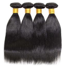 Descuento teñidos haces de pelo de malasia Extensiones de pelo peruano del pelo recto teje brasileño Paquetes de Malasia indio peruano 100 pelo humano puede ser tinte Ombre envío gratuito