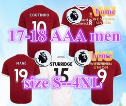 S-4XL 2017 2018 soccer jersey COUTINHO 10 men home away 18 FIRMINO HENDERSON MILNER WIJNALDUM MANE M.LASAH Thai Primier football shirt