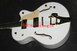 Wholesale guitar Chinese Guitar White 6120 Custom Shop Jazz Electric Guitar Best Free Shipping