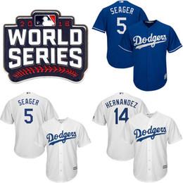 Wholesale Youth Kids World Series Dodgers Jersey Jackie Robinson Yasiel Puig Hyun Jin Ryu Corey Seager Enrique Hernandez Jerseys