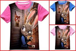 Wholesale zootopia new formula baby summer short sleeved animal crazy city D cotton children s clothing cheap children short T shir A22