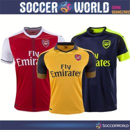 Wholesale Thai Quality Arsenal Soccer Jerseys Arsenal shirts OZIL WILSHERE RAMSEY ALEXIS rugby jerseys football shirt