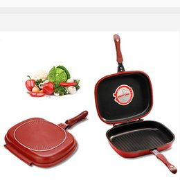 Wholesale Top Sell Diameter Happy Call Cm Double Side Grill Fry Pan With Grilling Stripe
