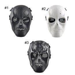 Al aire libre esqueleto Paintball BB Full CS cara proteger máscara de los cascos de disparo espuma acolchada dentro del protector del ojo completa 2503054 protect paintball on sale desde proteger a paintball proveedores