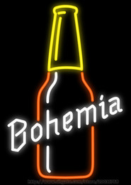 """Bohemia Beer Bottle Handcrafted Neon Sign Custom Real Glass Tuble Beer Bar Disco KTV Club PUB Store Advertising Display Neon Signs 15""""x19"""""""