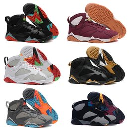 Wholesale 2016 air retro VII mans basketball shoes raptor guyz Hares Olympic Bordeaux GG Cardinal Raptor French Blue white BRED gold sports Sneakers