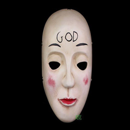 The Purge Film Masquerade GOD Resin Mask Adult Size Halloween Cosply Costume Full Face Masks Free Shipping