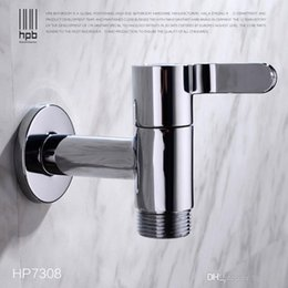 Wholesale Han Pai G3 quot Brass Garden Faucet Decorative Outdoor Faucets Washing Machine Connector Tap Bibcock Laundry Utility Faucets Robinet HP7308