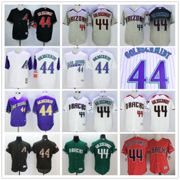 Wholesale 2016 Arizona Diamondbacks Paul Goldschmidt Black Red Gray White Purple Green Celtics Mens MLB Baseball Jerseys Cheap Outlets Store