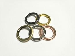 Promotion choix de sports Nouvelle arrivée 5 couleurs 28mm Oval Anneau snap clip Trigger Spring Porte Pour Boucle O Dee D Anneau Sac Package Nickel Bronze Choix