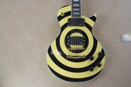 Factory Price Custom Shop 6 Strings EMG pick-up Zakk Wylde Bullseye Yellow & black Circle Electric Guitar Free shipping