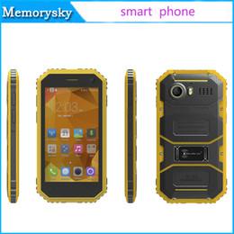 Pouces 1gb en Ligne-New KENXINDA W6 Mobile Phone 4.5 pouces MTK6735 Quad Core 1.3GHz Android 5.1 1GB 8GB 4G LTE étanche Cellphone extérieure