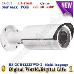 Wholesale DS CD4232FWD I Smart IP camera POE support MP mm Vari Focal lens CCTV Camera Smart Codec IR range m security camera