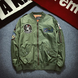 Wholesale 2016 Autumn German Military Jacket military coat Winter Air force one embroidery Army Green jacket Men baseball uniforms