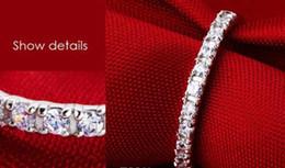 Promotion boîtes à bijoux dames Bijoux Lady White Sapphire Gemstones 925 Bague en argent sterling avec anneau de mariage