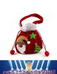 Wholesale 2017 nuevo bolso del caramelo de la Navidad Bolso de gama alta de los bolsos del regalo de la Navidad Bolso de Pleuche de bolsos del regalo Papá Noel bolso del regalo del muñeco de nieve MYY