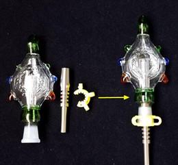 Acheter en ligne Eaux fraîches-Kit Nectar Collector Perc Pendentifs avec 14mm Titane ongles Wearable verre Bongs plate-forme pétrolière d'eau refroidie et Étanche Top Qualité