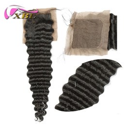 Wholesale Best Quality Silk Base Closure Human Hair Closure Deep Wave Free Shedding Free Tangle Gold Supplier Human Hair