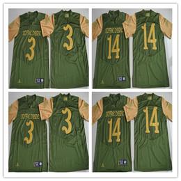 God Country Notre Dame Fighting Irish Jerseys, 3 Joe Montana, 14 DeShone Kizer Shamrock Series Premier College Football Jerseys