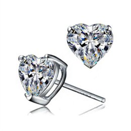 Wholesale Love Heart Women Rings S925 Silver Plated Austria Crystal With SWA Elements Bague en argent Jewelry