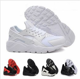 Wholesale 2016 Cheap high quality triple AIR black white huaraches man shoes Sneakers Shoes sports shoes For online sale free shippping size