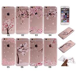 Цветковые деревья для продажи-Ультра тонкий прозрачный мягкий чехол Tpu Sakura цветок дерево Tribe Cat Картина задней стороны обложки Shell для Iphone 6 6s плюс